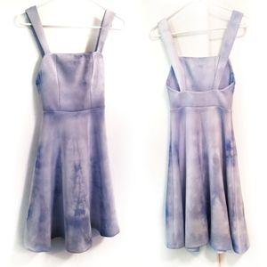 ASOS Hand Tie Dye Blue Scuba Skater Dress